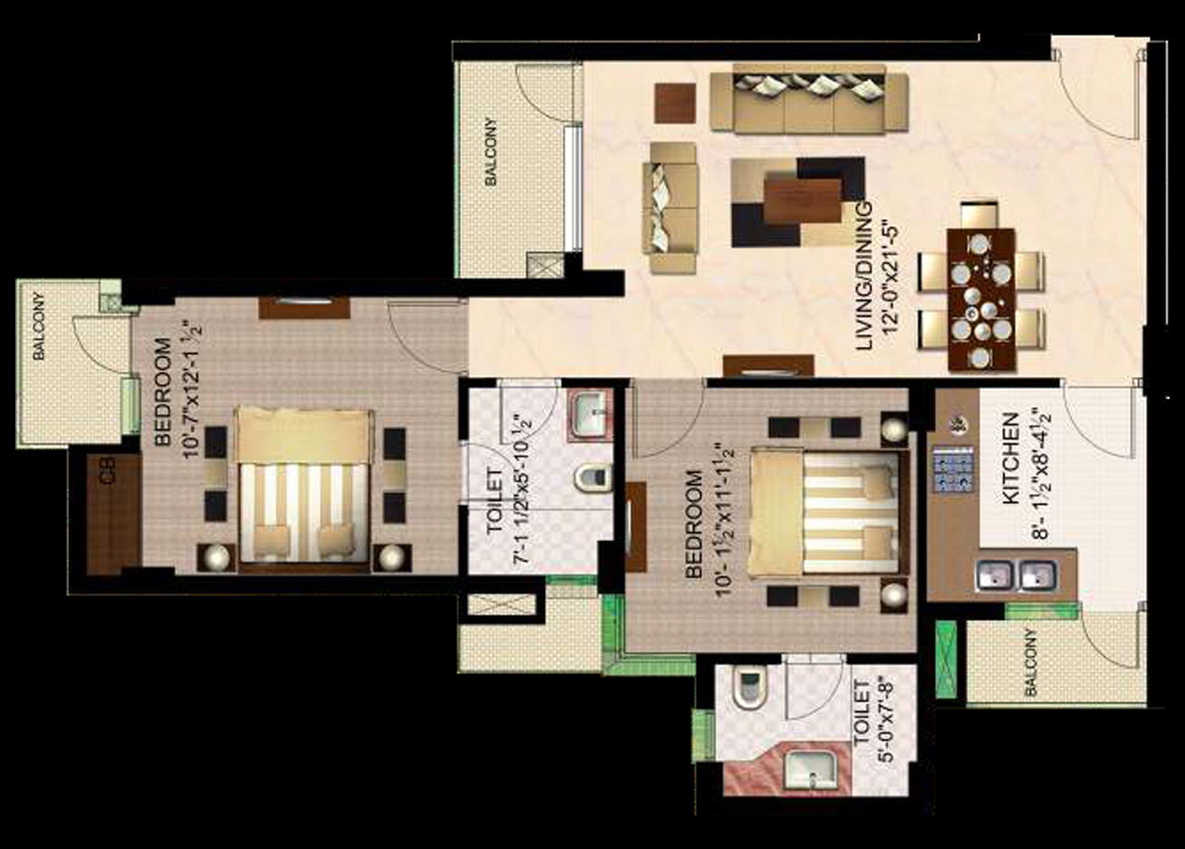 Ready to move flats in sector 137 Noida