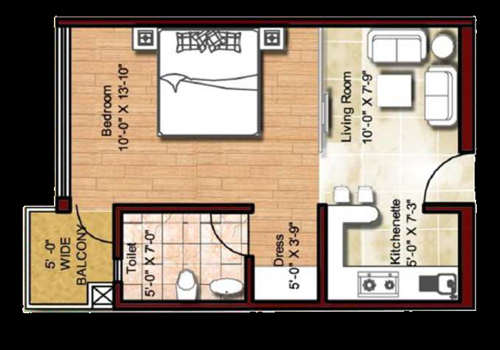 2 BHK flats at sector 143 Noida