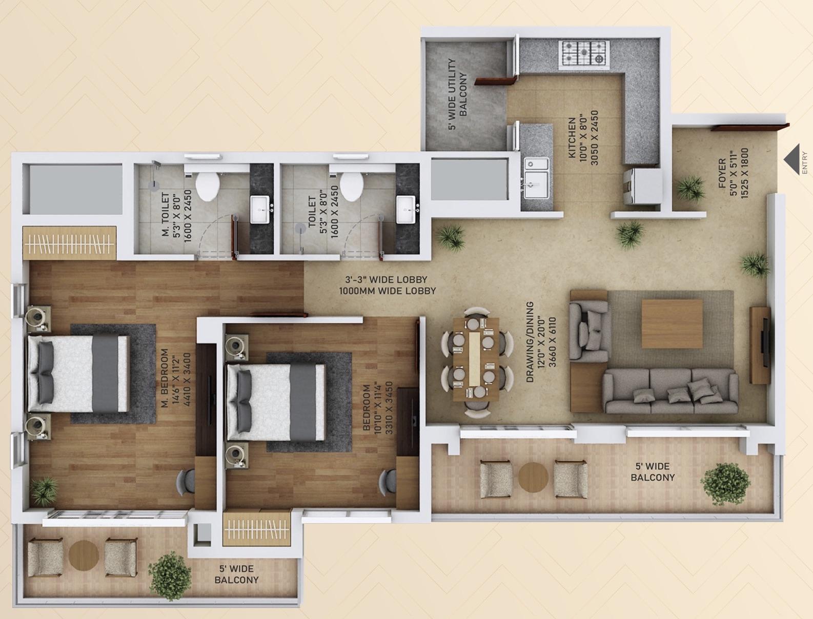 2 BHK apartments Noida