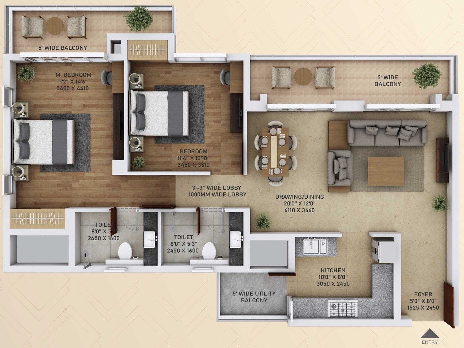 2 BHK apartments in Sector 152 Noida