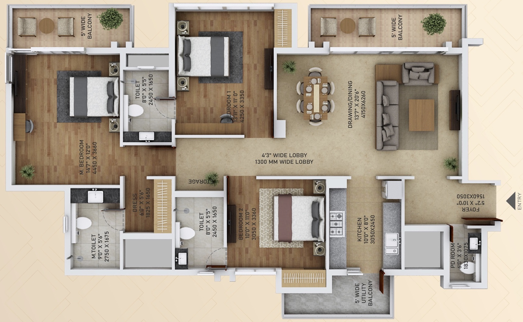 3 BHK apartments in Sector 152 Noida
